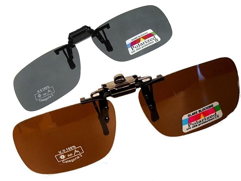 Clip-On polaroid solbrille