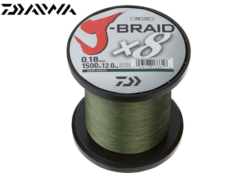 Daiwa J-Braid X8 1500m-0,13mm - Default Category