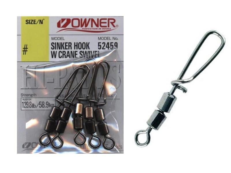 Image of   Owner Sinker Hook w/Crane Swiwel