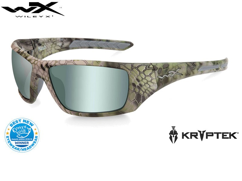 Wiley X NASH Pol Green Platinum Flash Kryptek Altitude Frame